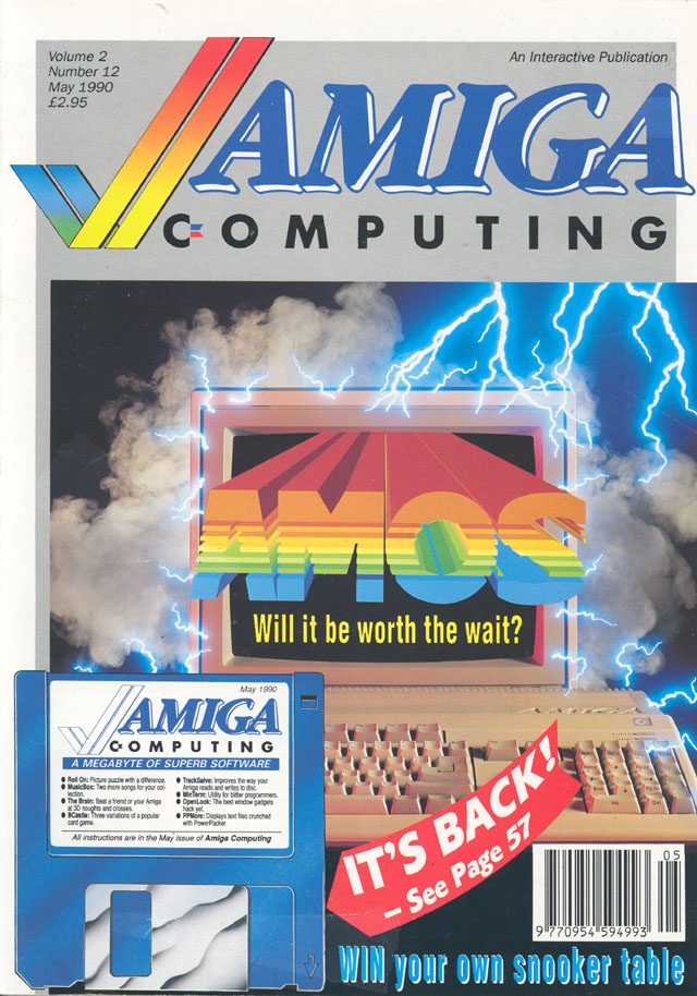 AMOS cover May 90 Amiga Computing