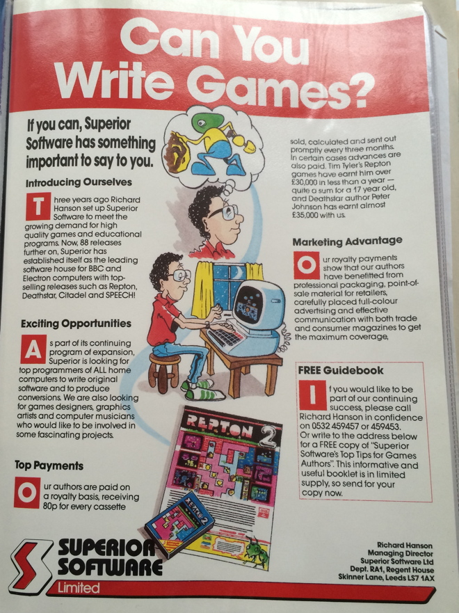 Can You Write Games? ad cropped 660
