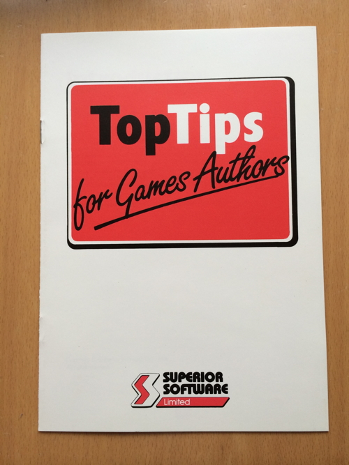 Top Tips For Games Authors Superior booklet 500