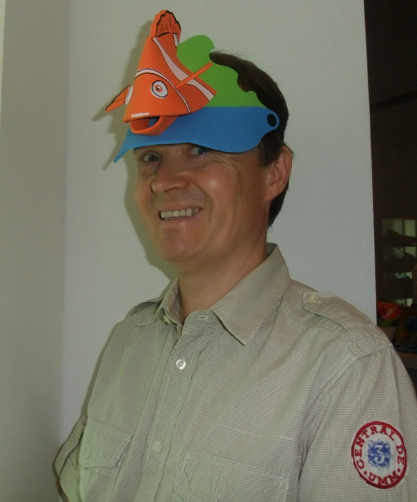Christopher John Payne with Finding Nemo hat