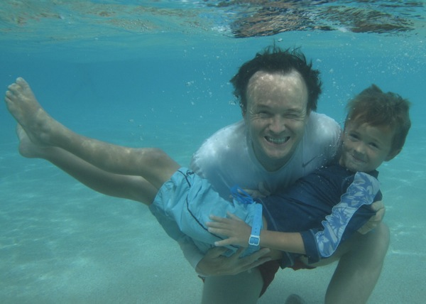 Christopher John Payne underwater with Felix