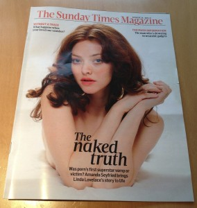 Sunday Times Magazine Amanda Sayfried