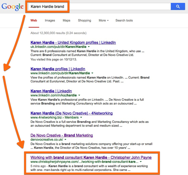 Karen Hardie Google indexing