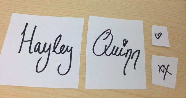 Hayley Quinn handwriting crop 640