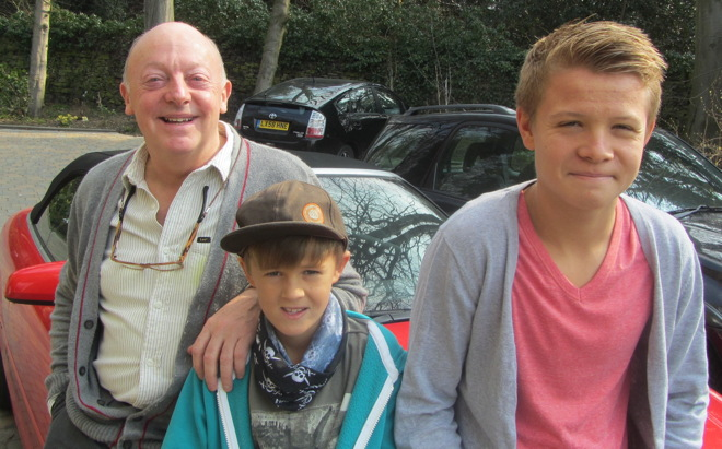 Allen Jewhurst with Toby and Felix