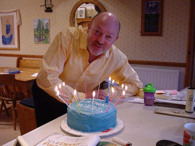 Allen Jewhurst with cake 4